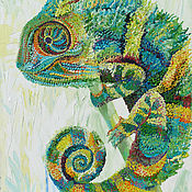 """Картины и панно ручной работы. Ярмарка Мастеров - ручная работа Картина """"Хамелеон"""". Handmade."""