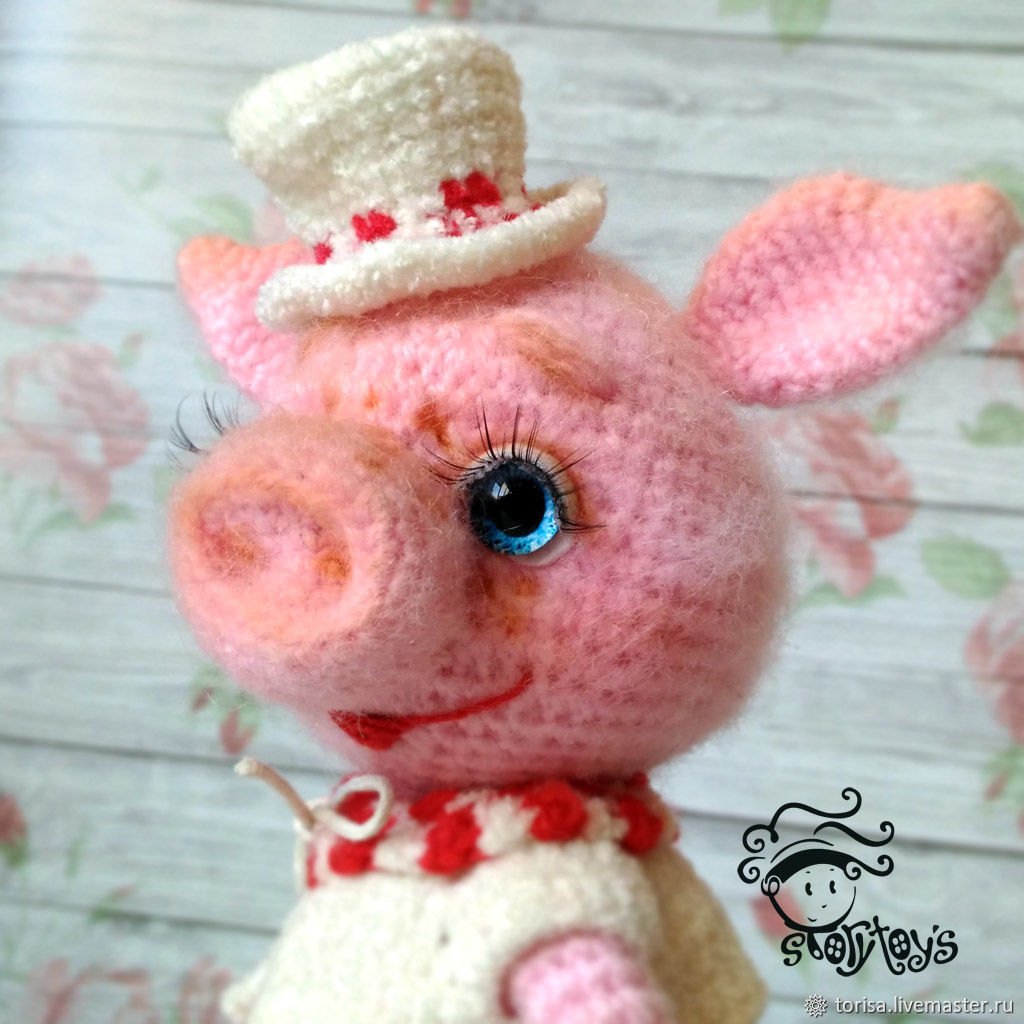 Lucille pig toy, Stuffed Toys, Moscow,  Фото №1