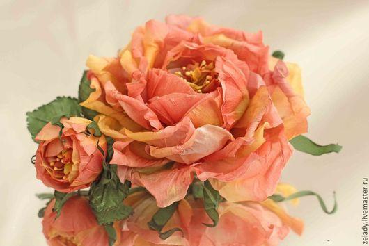 """Цветы ручной работы. Ярмарка Мастеров - ручная работа. Купить Роза из шелка  """"Чайной розы тонкий аромат..."""". Handmade."""
