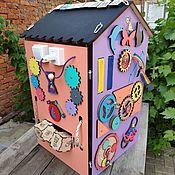 Бизиборды ручной работы. Ярмарка Мастеров - ручная работа Бизиборд дом со светом и звуковым сопровождением. Handmade.