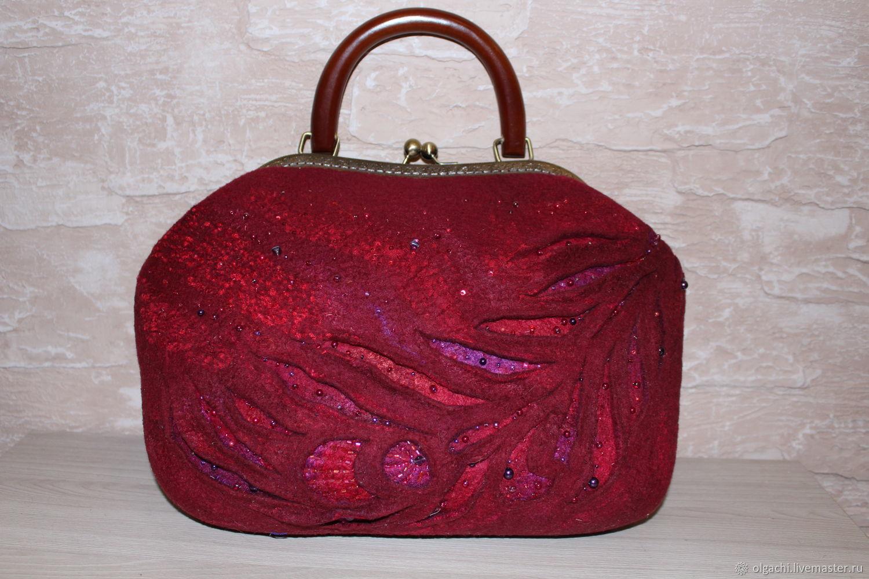 Женские сумки ручной работы. Ярмарка Мастеров - ручная работа. Купить. Сумка валяная. Handmade. Мокрое валяние
