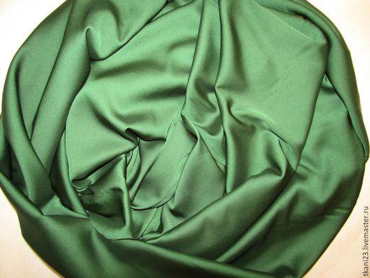 Шитье ручной работы. Ярмарка Мастеров - ручная работа. Купить Атлас шелк стрейч арт.14 АТШ-5 (Корея) травяная зелень. Handmade.
