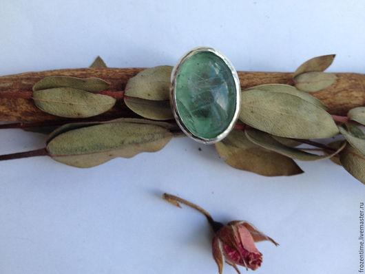 Кольца ручной работы. Ярмарка Мастеров - ручная работа. Купить Зеленый остров. Handmade. Зеленый, большой камень