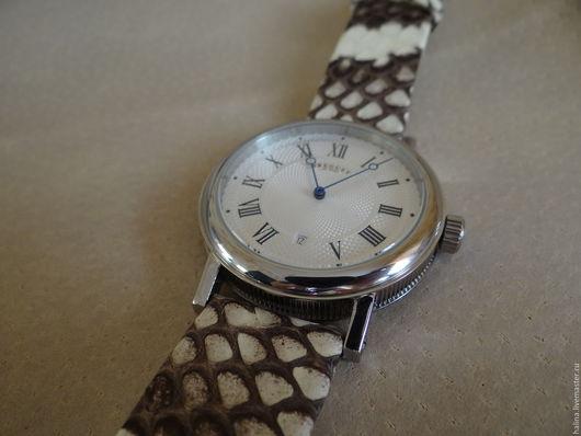 Часы ручной работы. Ярмарка Мастеров - ручная работа. Купить Часы. Handmade. Кожа змеиная, мужские часы в подарок