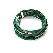 Украшения handmade. Livemaster - original item Suede bracelet winding