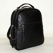 Сумки и аксессуары handmade. Livemaster - original item Backpack leather black women