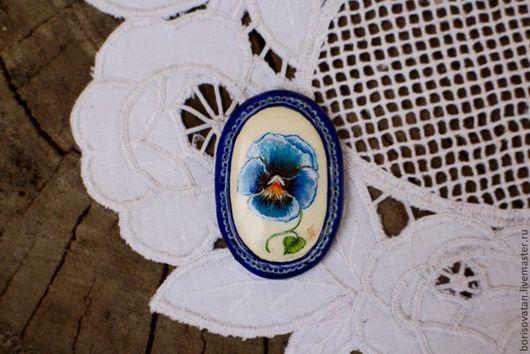 """Броши ручной работы. Ярмарка Мастеров - ручная работа. Купить Брошь """" Анюта"""". Handmade. Синий, брошь в винтажном стиле"""