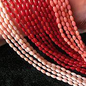 Бусины ручной работы. Ярмарка Мастеров - ручная работа Бусина 3х6 мм Оливка (1) (4 цвета) , коралл. Handmade.