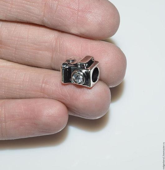 """Для украшений ручной работы. Ярмарка Мастеров - ручная работа. Купить Подвеска """"Фотоаппарат """" -  серебрение 925 пробы. Handmade."""