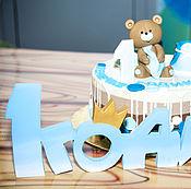 Для дома и интерьера ручной работы. Ярмарка Мастеров - ручная работа 1 годик табличка на день рождения. Handmade.