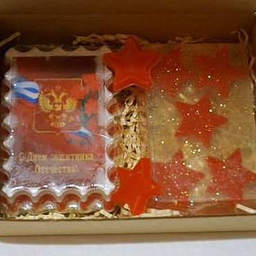 Косметика ручной работы. Ярмарка Мастеров - ручная работа Подарочный набор из мыла Защитнику отечества. Handmade.
