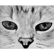 Картины и панно ручной работы. Ярмарка Мастеров - ручная работа Белый и пушистый (24 х 30 см). Handmade.