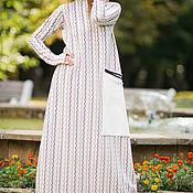 Одежда handmade. Livemaster - original item Asymmetric long dress - DR0152PM. Handmade.