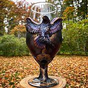 Посуда handmade. Livemaster - original item A glass of beer Falcon. Handmade.