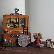 Куклы и игрушки handmade. Livemaster - original item Mini box-house for Kuzka. Handmade.