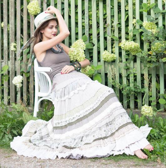 Милая летняя юбочка в стиле бохо-шик.   Анна Ивашко-модель Анна Герт-фотохудожник