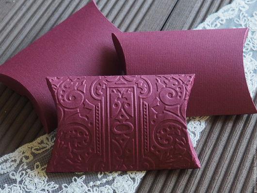 Свадебные аксессуары ручной работы. Ярмарка Мастеров - ручная работа. Купить Бонбоньерки коробочки для конфет бордовый Марсала. Handmade. Бордовый