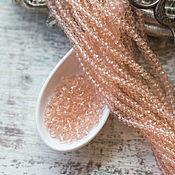 Материалы для творчества handmade. Livemaster - original item Copy of Copy of Rondelle beads 2,5x2mm Лагуна. Handmade.