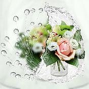 Картины и панно handmade. Livemaster - original item Drops. Flowers. Morning bouquet photo picture. Handmade.