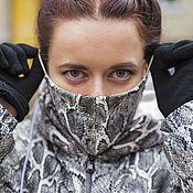 Одежда handmade. Livemaster - original item Eco-leather down jacket with reptile print (Python). Handmade.