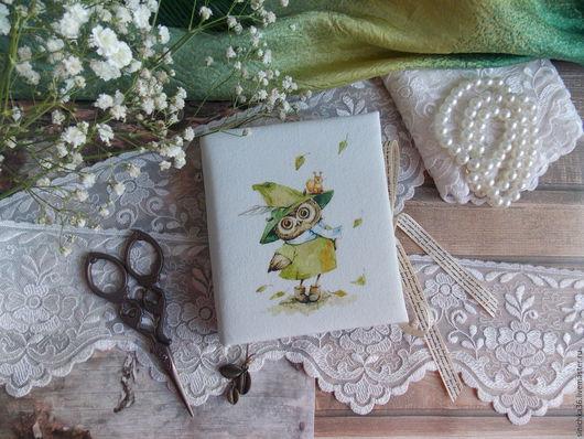 """Блокноты ручной работы. Ярмарка Мастеров - ручная работа. Купить Блокнотик из серии """" Совушки """". Handmade. Комбинированный, совы"""