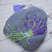 Сумки и аксессуары handmade. Livemaster - original item Lavender Shoulder bag clasp Bag with embroidery.. Handmade.