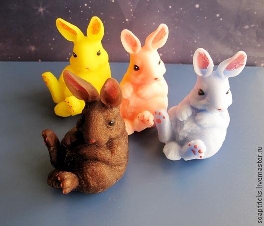 Мыло ручной работы. Ярмарка Мастеров - ручная работа. Купить Мыло Заяц. Handmade. Разноцветный, кролик, подарок женщине