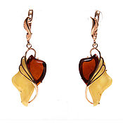 Украшения handmade. Livemaster - original item Author`s earrings from amber