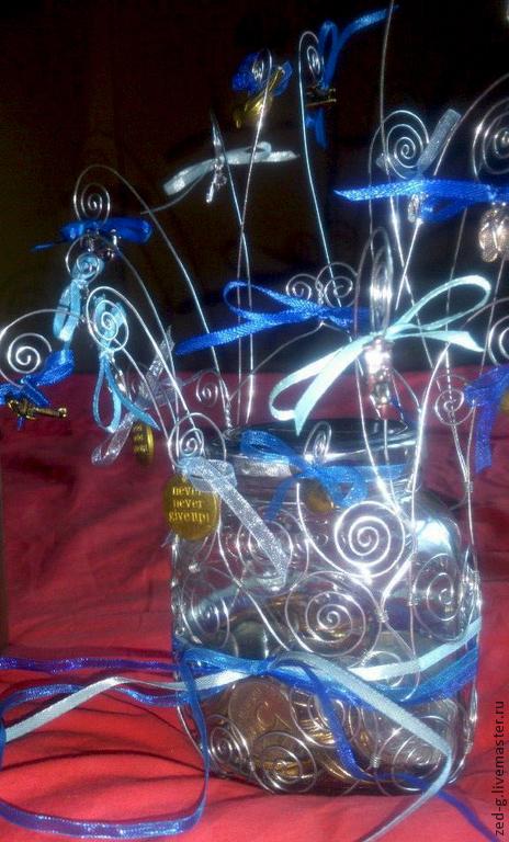 """Копилки ручной работы. Ярмарка Мастеров - ручная работа. Купить Копилка """"Дерево исполнения желаний"""". Handmade. Копилка, стеклянная банка"""