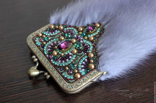 Для телефонов ручной работы. Ярмарка Мастеров - ручная работа. Купить Чехол для телефона из меха норки МАXI Фейерверк, меховой чехол. Handmade.