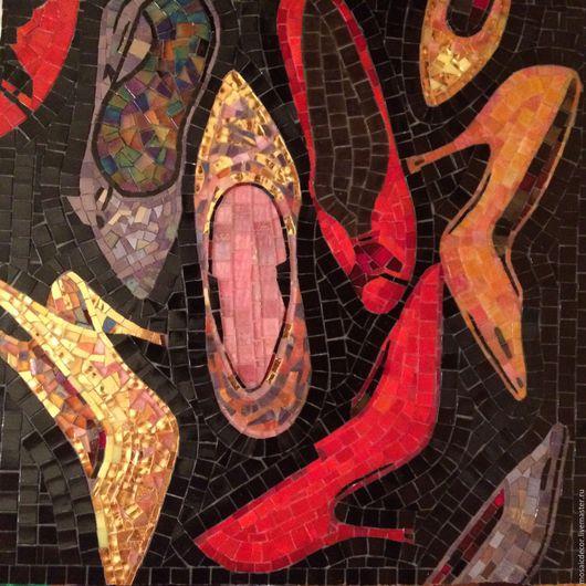 Символизм ручной работы. Ярмарка Мастеров - ручная работа. Купить Туфли (мозаичное панно по мотивам работ Э. Уорхолла). Handmade.