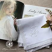 Аксессуары handmade. Livemaster - original item Handkerchief bow with monogram. Handmade.