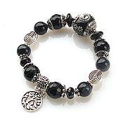 Украшения handmade. Livemaster - original item b5. Bracelet with black agate. Handmade.