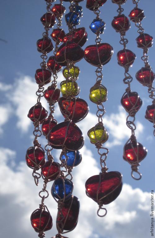 Подвески ручной работы. Ярмарка Мастеров - ручная работа. Купить Подвеска из разноцветного стекла. Handmade. Подвеска, стеклянные бусины, марблс