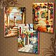 City handmade. Livemaster - handmade. Buy Picture - panel 'Italian courtyards'.Gift, picture, gift girl