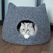"""Домик для питомца ручной работы. Ярмарка Мастеров - ручная работа Домик для кошки """"Кот Том"""". Handmade."""