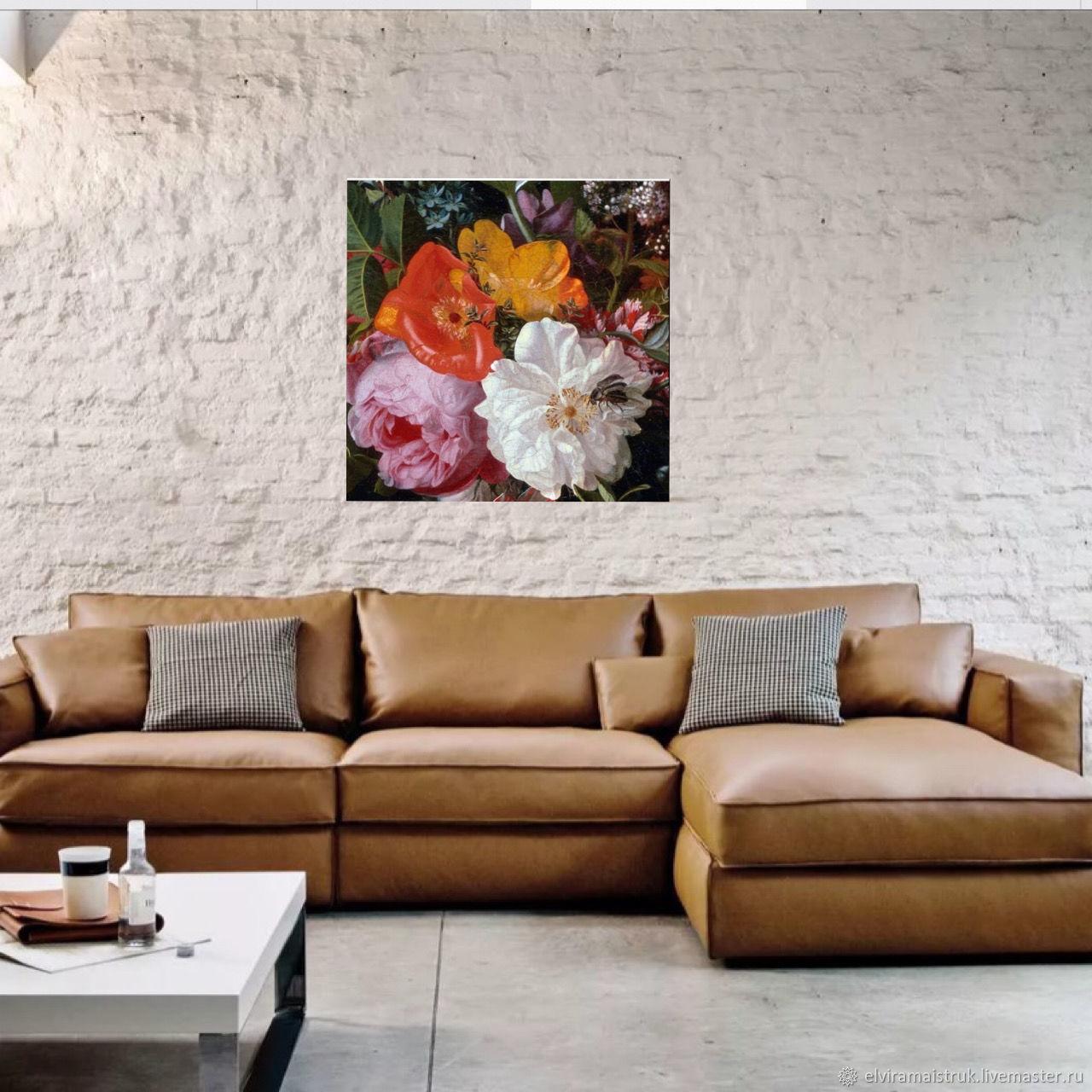 Интерьерная картина желтая красная зеленая розовая белая, Картины, Санкт-Петербург,  Фото №1