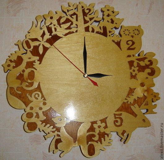 Детская ручной работы. Ярмарка Мастеров - ручная работа. Купить Часы настенные. Handmade. Часы настенные, фанера, детская комната