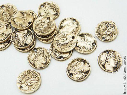 Для украшений ручной работы. Ярмарка Мастеров - ручная работа. Купить Монета декоративная, 10 мм, двусторонняя, Южная Корея. Handmade.
