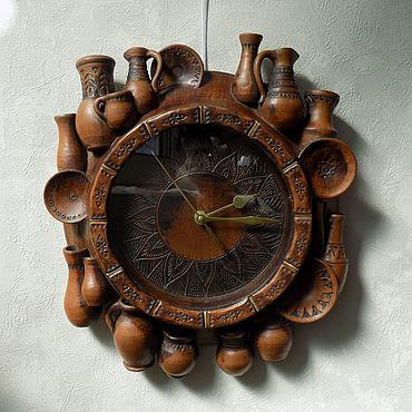 Для дома и интерьера ручной работы. Ярмарка Мастеров - ручная работа Часы настенные Керамика. Handmade.