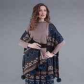 Одежда ручной работы. Ярмарка Мастеров - ручная работа Вязаная жаккардовая юбка с шарфом. Handmade.
