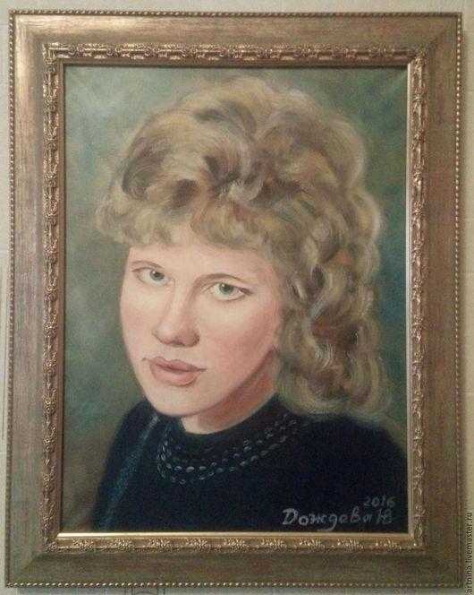 Портрет маслом  на заказ по фото.  Масло ,холст 30х40. Пишу портреты  маслом в классической технике, многослойной живописи.