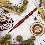 Материалы для творчества handmade. Livemaster - original item Knitting hook made of Siberian cedar wood 5 mm. K26. Handmade.