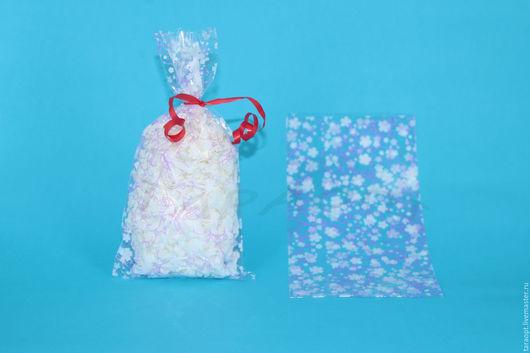 """Упаковка ручной работы. Ярмарка Мастеров - ручная работа. Купить Пакет упаковочный прозрачный """"Цветочный орнамент"""" 10 х 20. Handmade."""