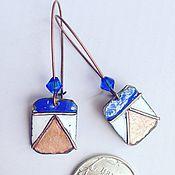 Украшения ручной работы. Ярмарка Мастеров - ручная работа серьги голубые кораблики. Handmade.