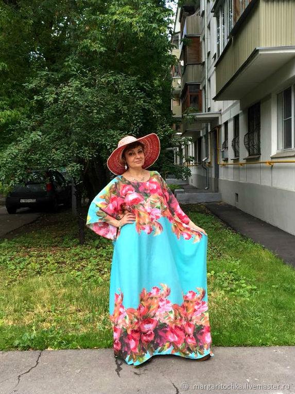 Шикарное бирюзовое платье вискоза, Платья, Москва,  Фото №1