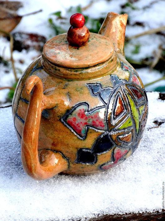 """Чайники, кофейники ручной работы. Ярмарка Мастеров - ручная работа. Купить Чайник """"Роза ветров"""". Handmade. Чай, чайная посуда"""