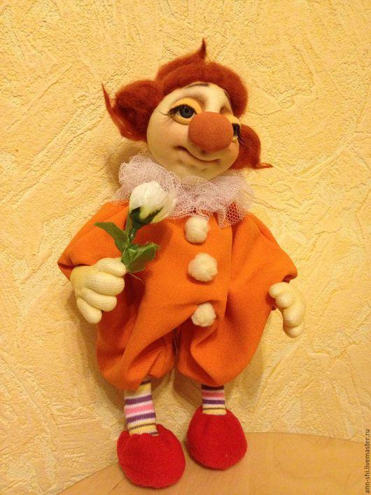 Коллекционные куклы ручной работы. Ярмарка Мастеров - ручная работа. Купить Грустный клоун. Handmade. Рыжий, кукла ручной работы