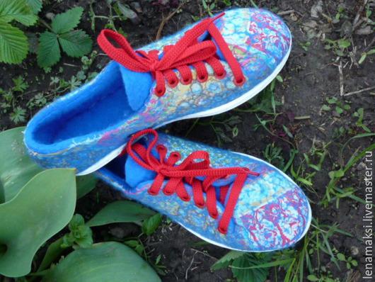 """Обувь ручной работы. Ярмарка Мастеров - ручная работа. Купить Кеды """"Победа"""". Handmade. Разноцветный, обувь для улицы, Валяние, подошва"""