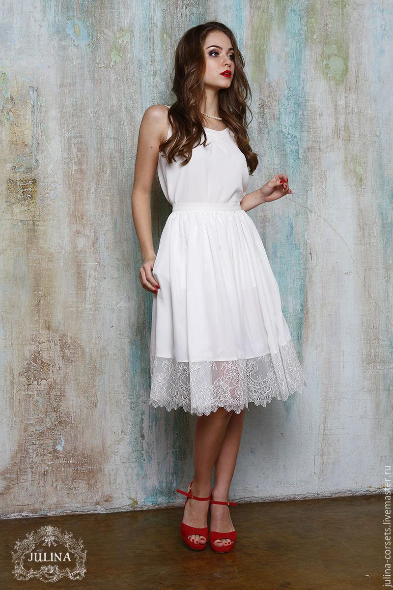 Шелковая юбка доставка